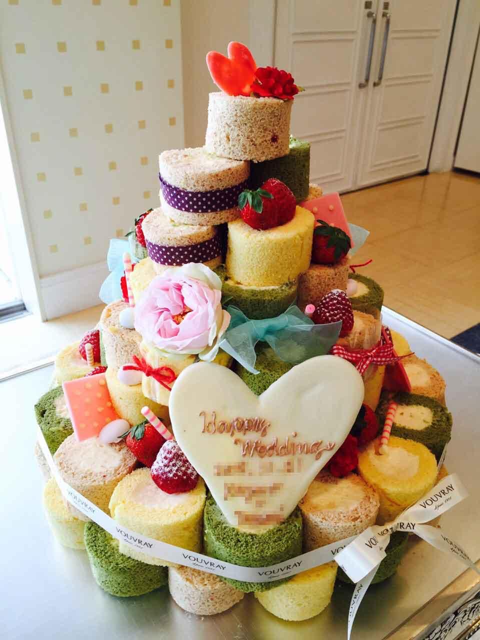 ヴーヴレイのウエディングケーキ